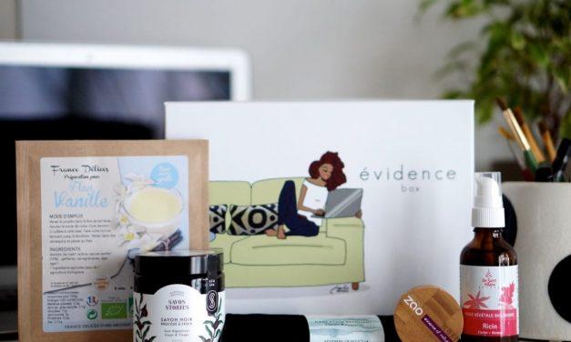 Box Evidence, enfin une box beauté naturelle !